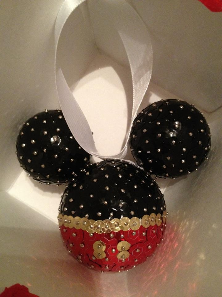 Mickey ornament! Made it myself :)