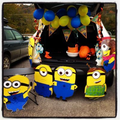 recycled our minion party decorations