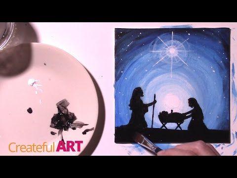 how to draw a cartoon nativity scene