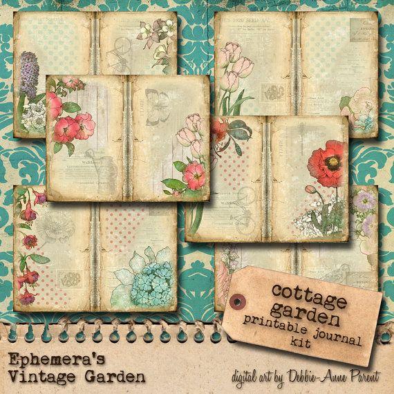 Cottage tuin  afdrukbare Journal Kit