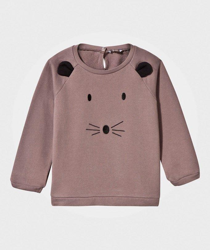 Emile et Ida Mouse Sweat Shirt Glazed Brown Marron glacé