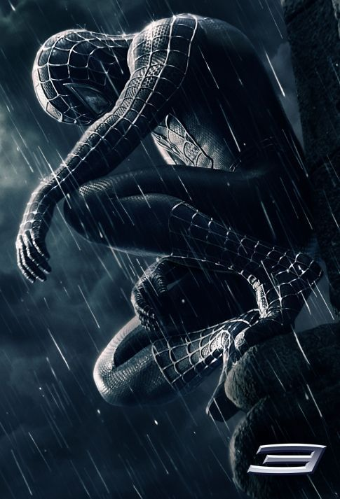 Spider-man 3 Movie Poster Black spiderman is much better than red and blue