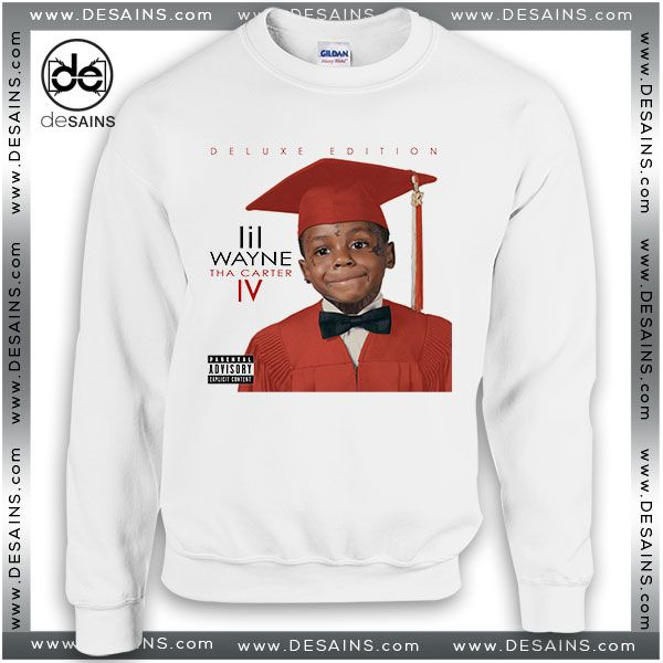 Cheap Graphic Sweatshirt Lil Wayne Tha Carter IV Album Cover //Price: $24 Gift Custom Tee Shirt Dress //     #Desains #Tees #Shirt #Dress