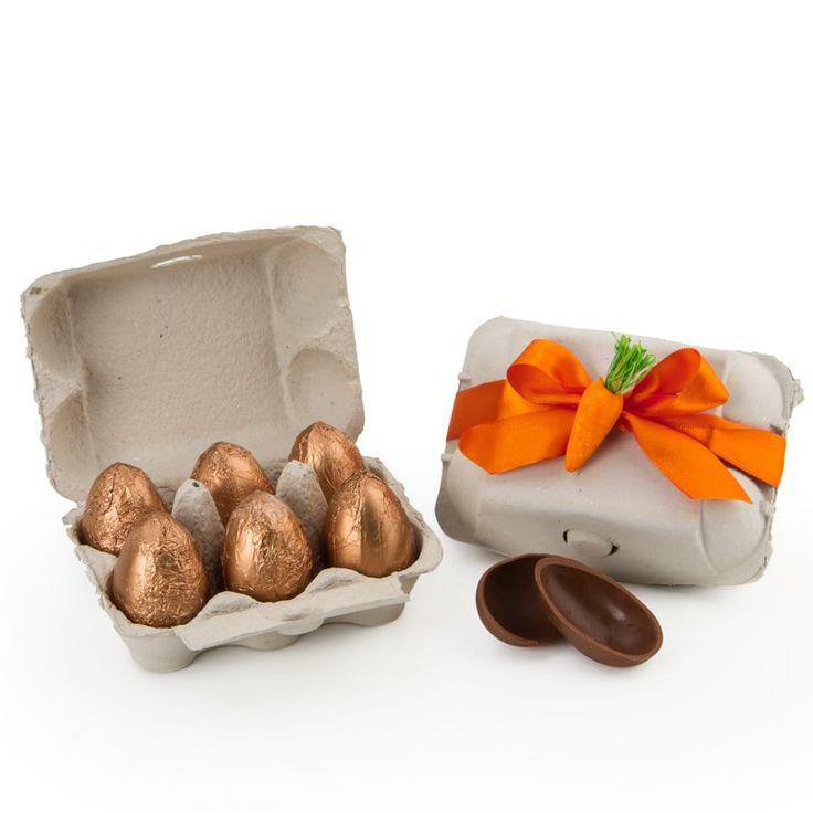 Presente de páscoa mais charmoso e original! Meia dúzia de ovos de chocolate belga dentro de uma embalagem de ovos convencionais. E o melhor, você pode optar pelo recheio de brigadeiro ou Nutella! FOUND IT! - Presentes especiais para todas as ocasiões.