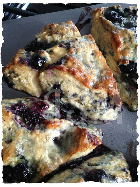 Life's Simple Measures: Blackberry-Blueberry Scones with Honey-Butter Glaze
