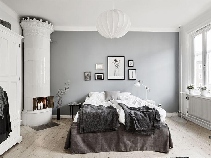 Decoração com  branco, preto e cinza .