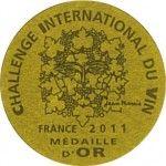 Eredmények  Challenge International du vin 2011Cabernet Sauvignon2009vörösArany