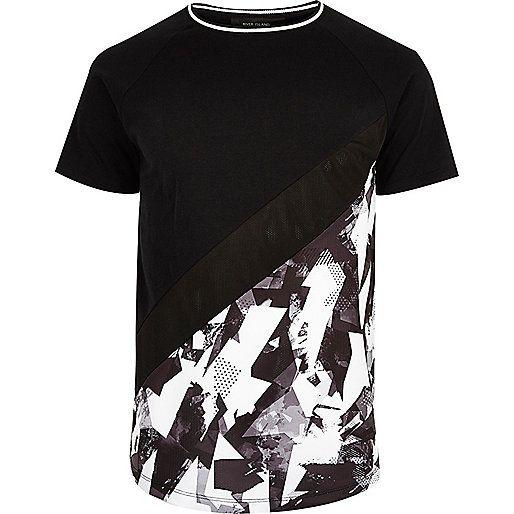 Black and white geo panel T-shirt - print t-shirts - t-shirts / vests - men