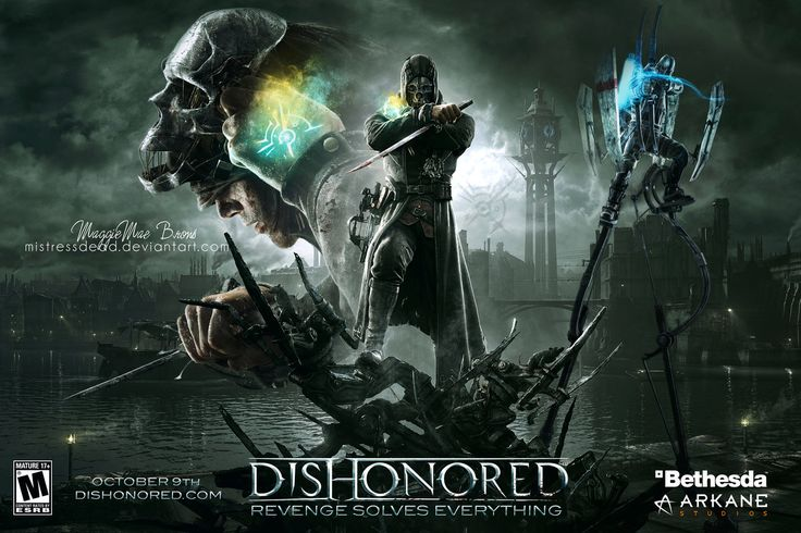 dishonored videogame   Dishonored Video Game Poster by MistressDead