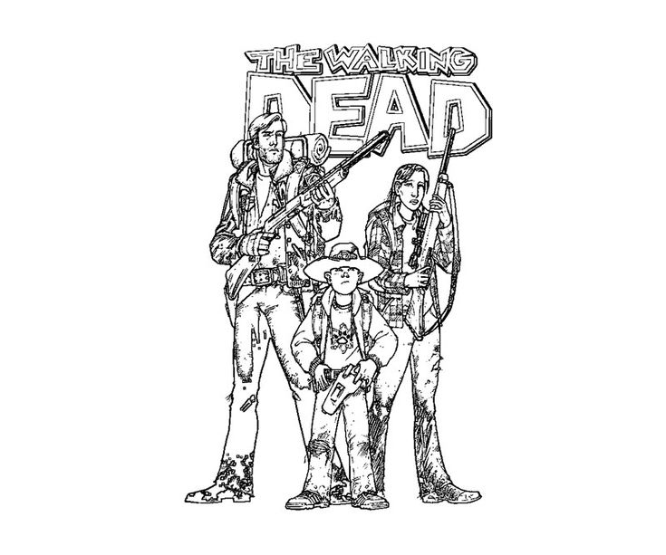 42 best coloring pages (the walking dead) images on pinterest Walking Dead Maggie Coloring Pages Michonne Coloring Page walking dead daryl coloring pages