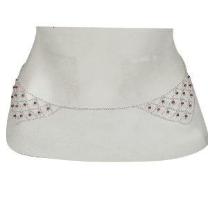 Sterling Silber handgefertigten indischen Schmuck Bauch Kette Körperlänge 80.65 cm