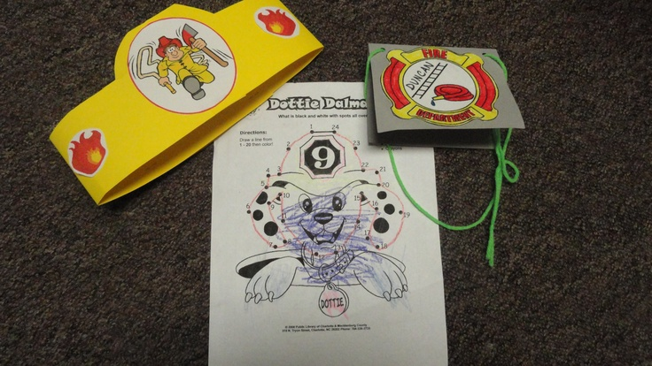 fireman crafts hats coloring page badge fire safety