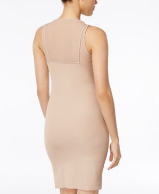 Material Girl Juniors' Asymmetrical Mesh Overlay Slip Dress, Only at Macy's - Ivory/Cream XXS
