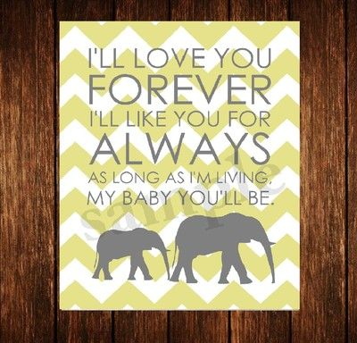 Nursery Baby boy or girl Wall Art Decor Digital Print Chevron Love you Always #sponsored