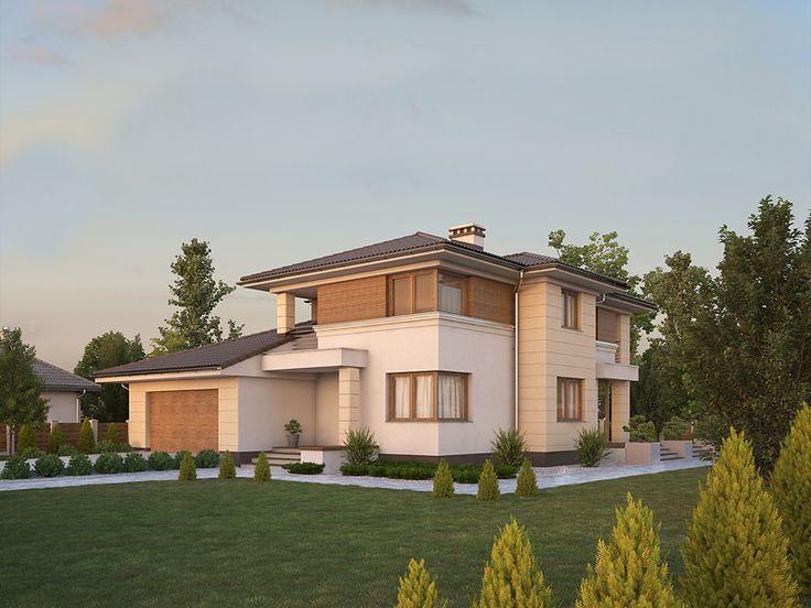 Projekt domu dwukondygnacyjnego z piwnicą - Cyprys 8 (150 m2). Pełna prezentacja projektu dostępna jest na stronie: www.domywstylu.pl.... #cyprys8 #projekty #gotowe #typowe #domow #domy #domywstylu #wnetrza #aranzacje #home #houses #interiors #insides #architektura #architecture #ogrod