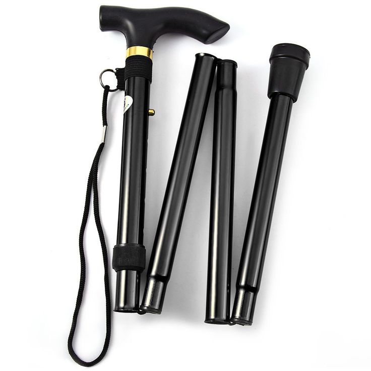 Ultralight 4-section Adjustable Aluminum Alloy Folding Walking Stick