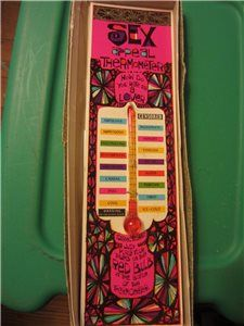 Vintage Sex Appeal Thermometer How do you rate as a lover Adult Novelty - Directions: Just Place your thumb on the Red Bul