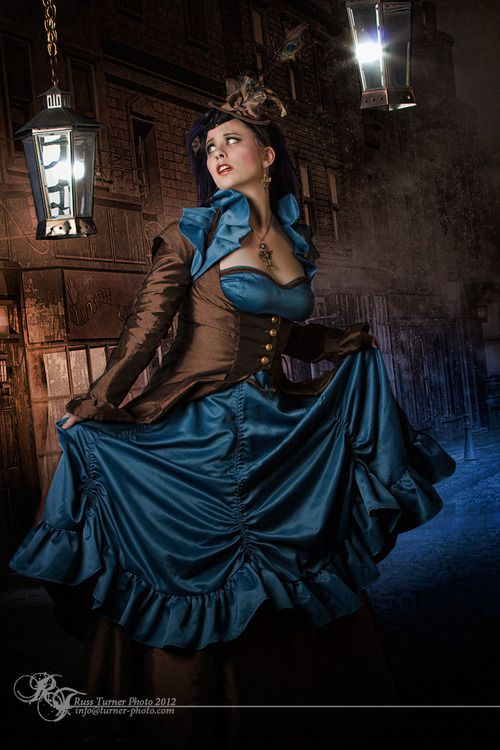 turner-photo:    Model: Deanna Deadly, MUA: Deaette Dwyer, Fashions by Kinky Kitty, Accessories by Lily's Steampunk Emporium.