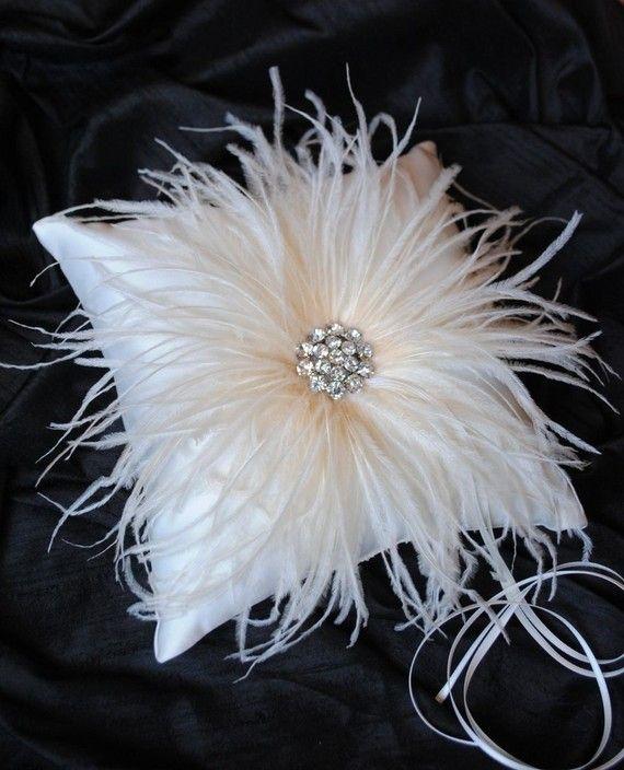 Ivory Ring Bearer Pillow  Ivory Satin Ring by weddingsandsuch, $39.00