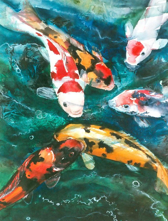 Koi V Koi Art Fish Art And Koi Painting