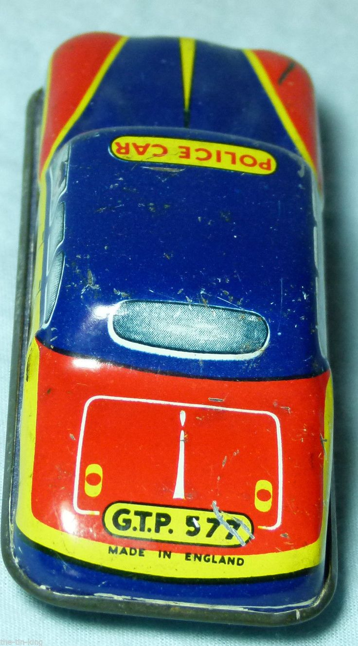 TIN PLATE TOY GLAM TOYS POLICE CAR 1950S/60S | eBay
