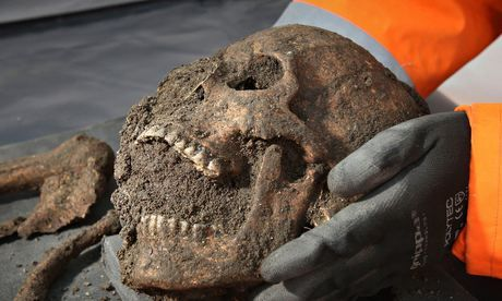 Black death researchers extracted plague DNA from 14th century skulls found in east London. Photograph: Philip Toscano/PA