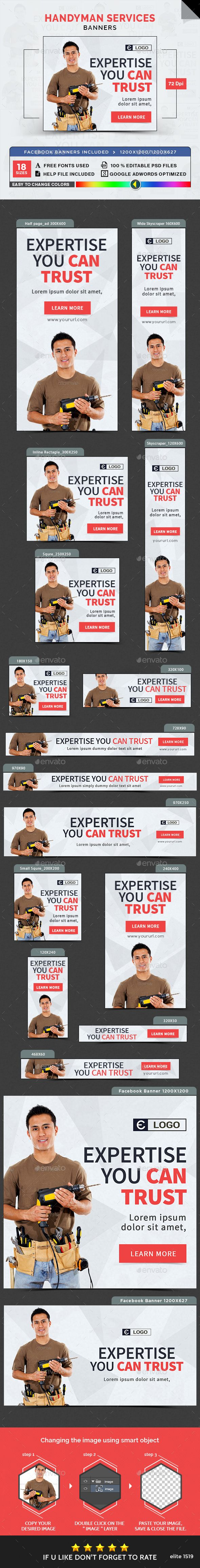 Free handyman price list - Handyman Service Banners