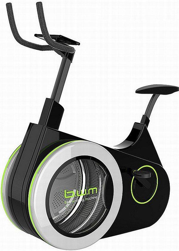 洗濯機つきのエアロバイク「B.W.M.」―洗濯しながらダイエット - えん乗り