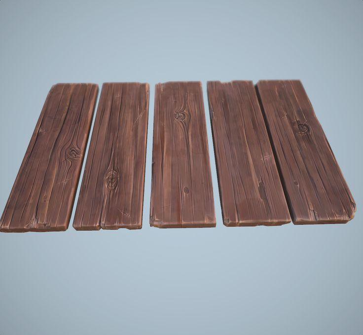 ArtStation - cartoon wooden planks, Alexey B.