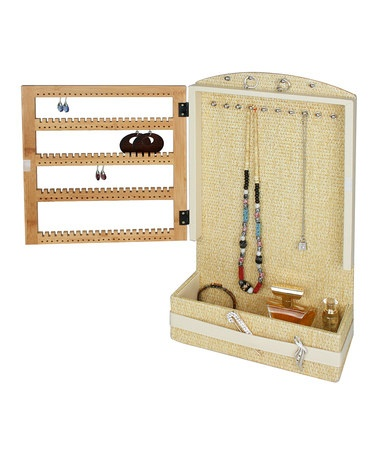 Take a look at this Ecru Jewelry Station by Kangaroom on #zulily today!