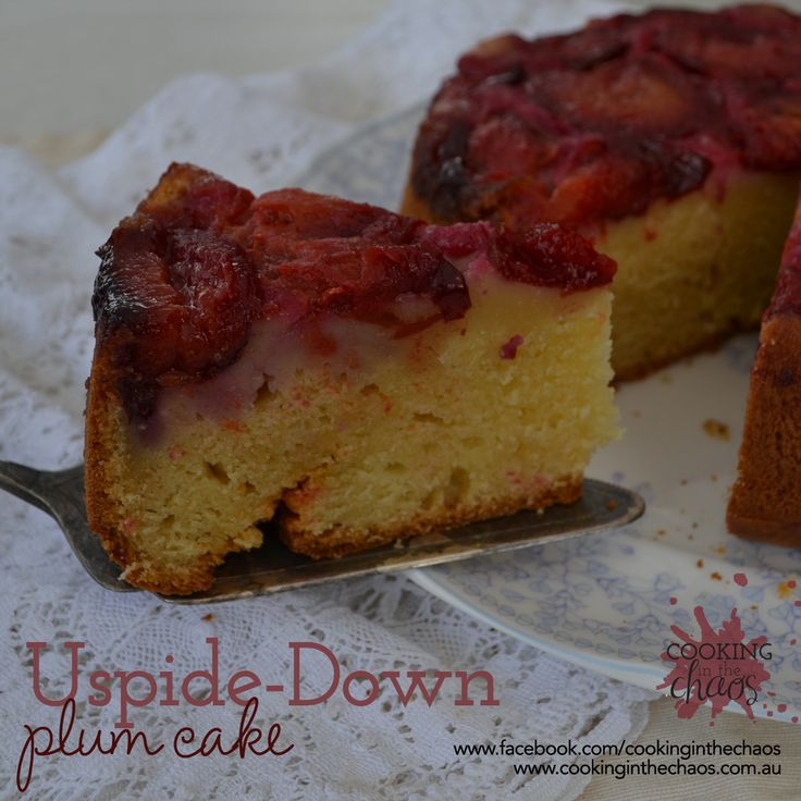 Upside Down Plum Cake - Cooking in the Chaos - Thermomix Recipe
