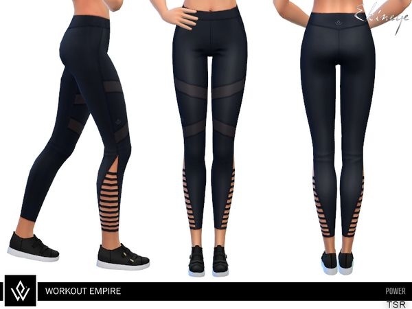 ekinege's Workout Empire - Power - Vent Tights | The Sims 4