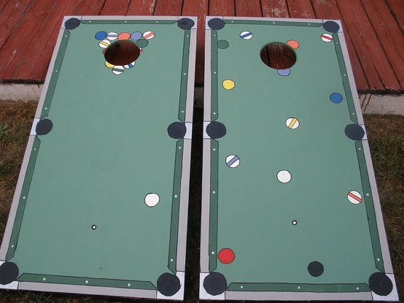 Billiards Or Pool CornHole Board Sets Only 140w/bags By ByFolks, $140.00