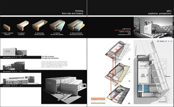 Architecture portfolio ideas with a marvelous view of for Interior design portfolio layout ideas
