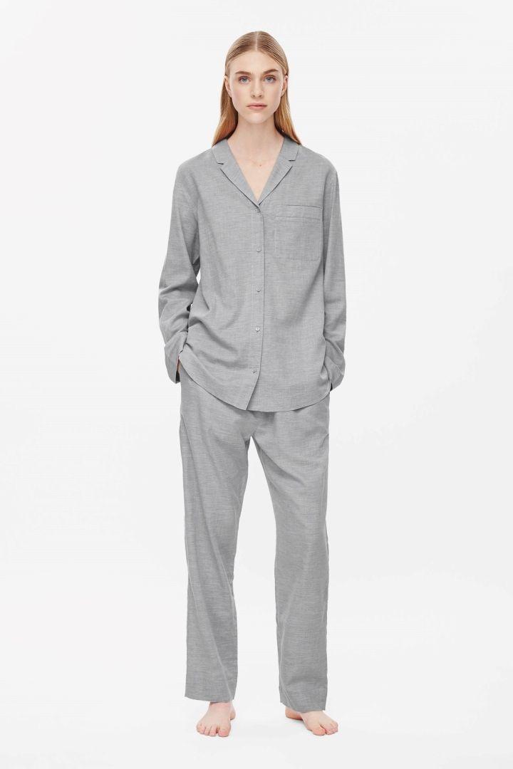 Flannel pyjama top