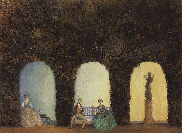 В боскете. 1898-1899 |