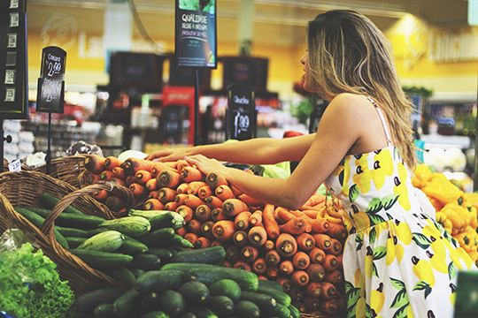 Summer dress green grocer