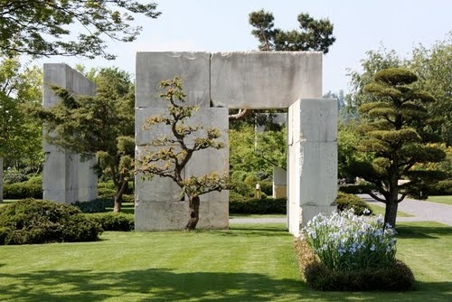 Enzo Enea Tree Museum...angled walls for garden