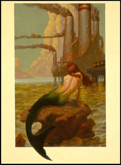 .: Fantasy, Mermen, Illustrations, Art, Mermaids Sirens, Sea, Merfolk, Painting