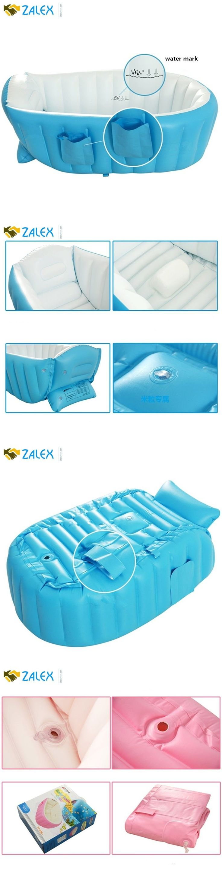 Bath Tub Seats and Rings 162024: Kf445 Large Capacity Baby Inflatable Bath Tub Plastic Mini Air Swimming Pool Kid -> BUY IT NOW ONLY: $32.08 on eBay!