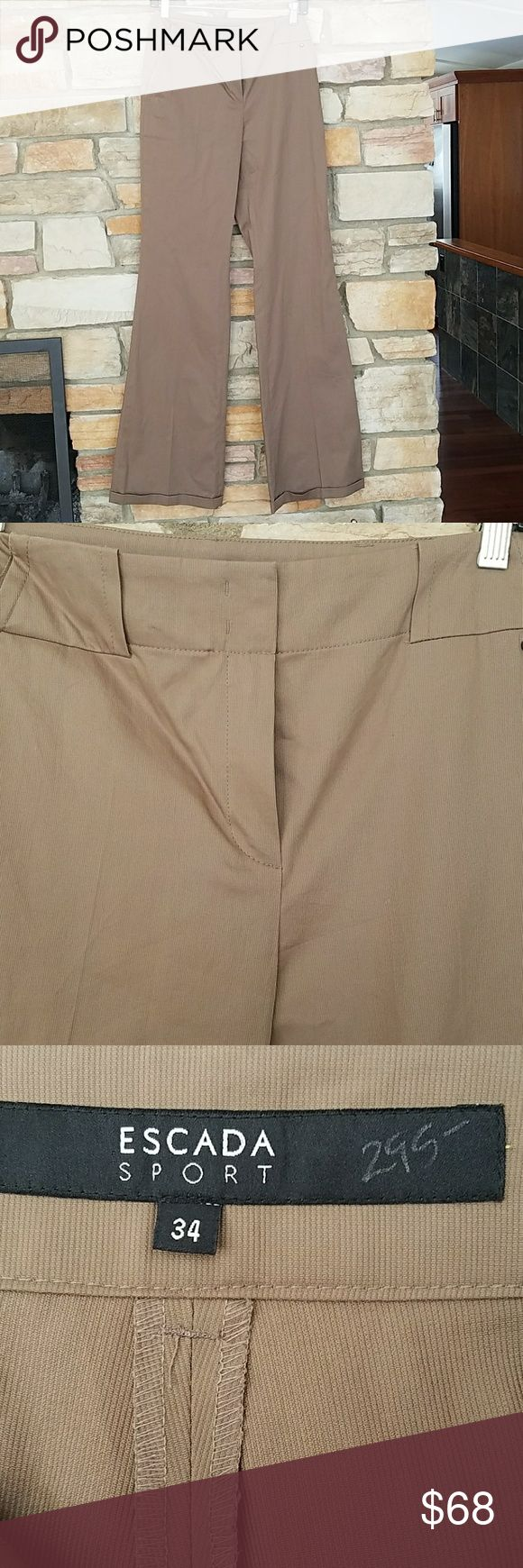 """Escada sport boot leg pants LONG NWOT These are brand new, cleaning out closet! Perfect for casual or for work. Boot cut, light weight. 28""""W 34""""inseam 9.5"""" Escada Pants Boot Cut & Flare"""