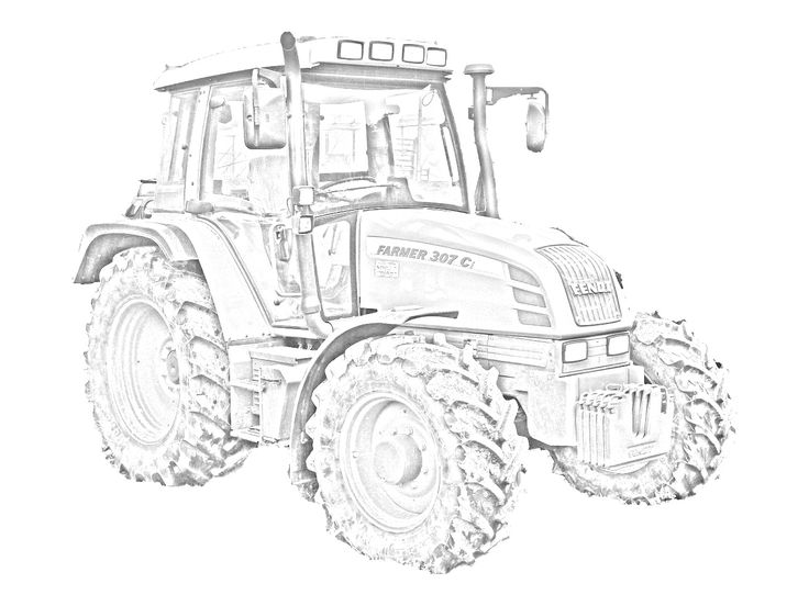 Trattore Fendt Farmer 307 C da stampare e colorare. Vedi la foto originale del trattore su: http://tantitrattori.96.lt/fendt-farmer-307-c/