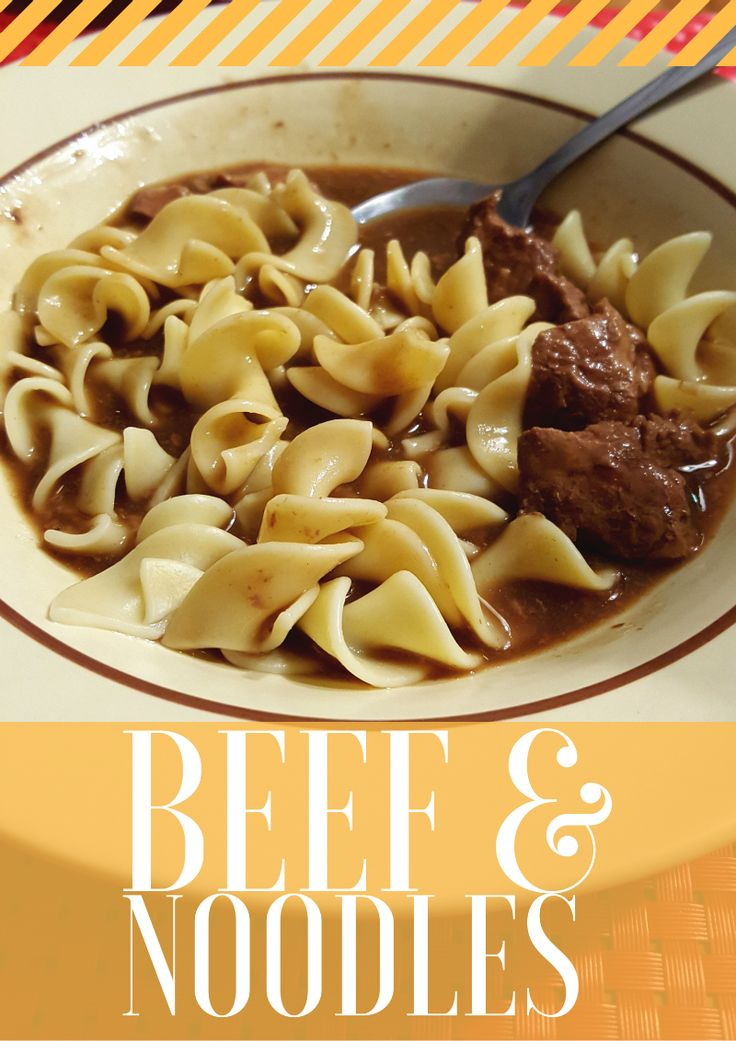 Simple and Easy Beef and Noodles recipe