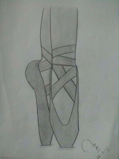 ballet shoes my drawing