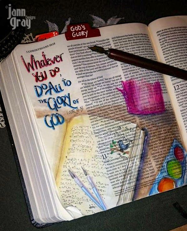 This is Bible art journaling ABOUT Bible art journaling! This is so cool!