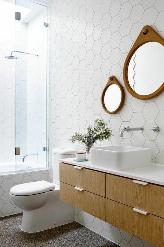 d corer la salle de bains avec un vier c ramique meuble sous evier miroirs suspendus et viers. Black Bedroom Furniture Sets. Home Design Ideas