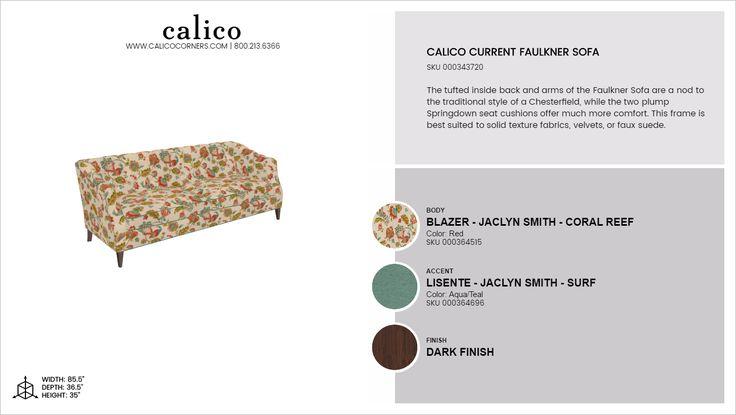 Calico Cur Faulkner Sofa In Blazer