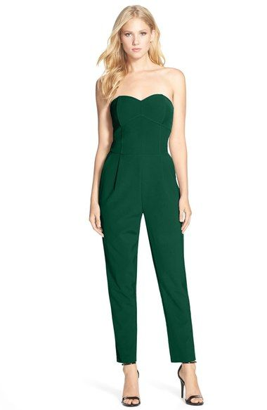 Adelyn Rae Strapless Jumpsuit available at #Nordstrom -- in black or cobalt