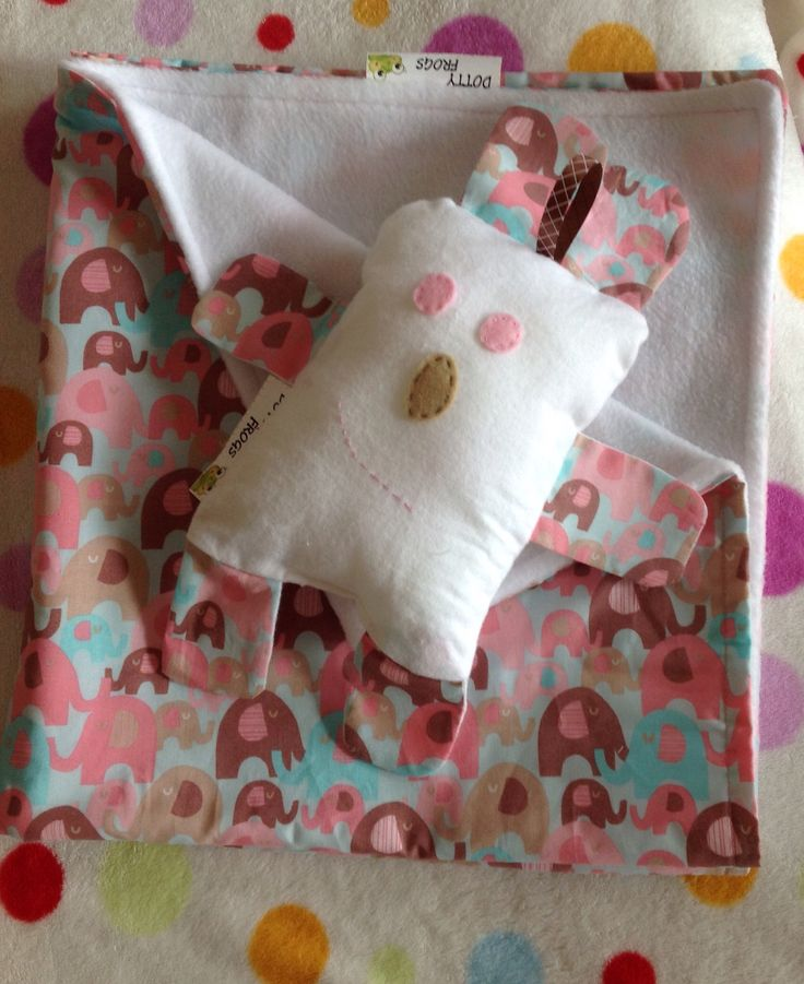 Dotty Frogs, Baby minky blanket and softie for baby girl.