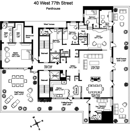 Luxury apartment floor plans nyc gurus floor for Luxury apartment floor plans nyc